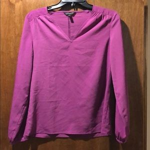 Banana Republic sz XS magenta long sleeve top